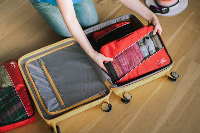 Sunflake rood packing cubes