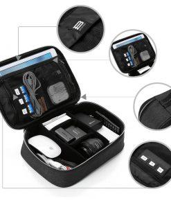 Elektronica Organizer Tas Deluxe Zwart