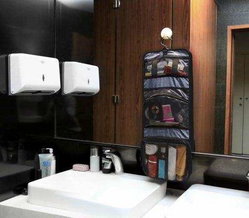 Compacte opvouwbare toilettas