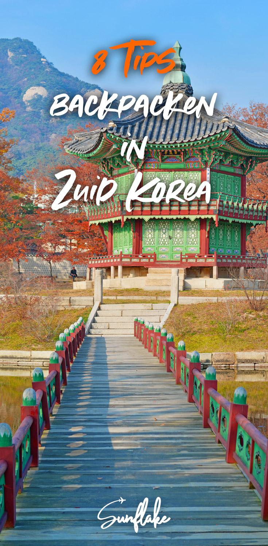 Backpacken Zuid Korea pin