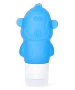 Silicone Reisflesje Aap 89ml Blauw