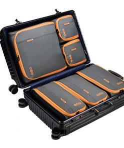 Packing Cubes Set Koffer - Grijs Oranje