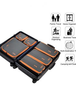 Packing Cubes Set Koffer - Grijs Oranje