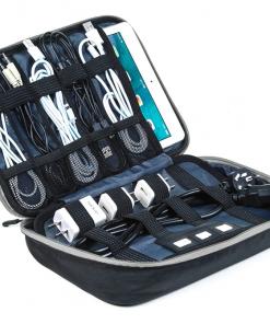 Reis kabel organiser zwart grijs