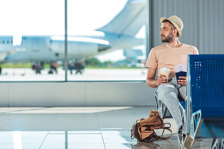 Wachten vliegveld