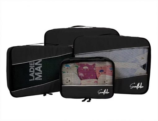Packing cubes set zwart 4 set