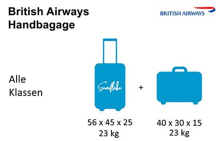 British Airways handbagage afmetingen